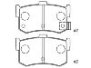 Pastillas de freno Brake Pad Set:43022-SG9-000