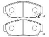 Pastillas de freno Brake Pad Set:45022-ST7-000